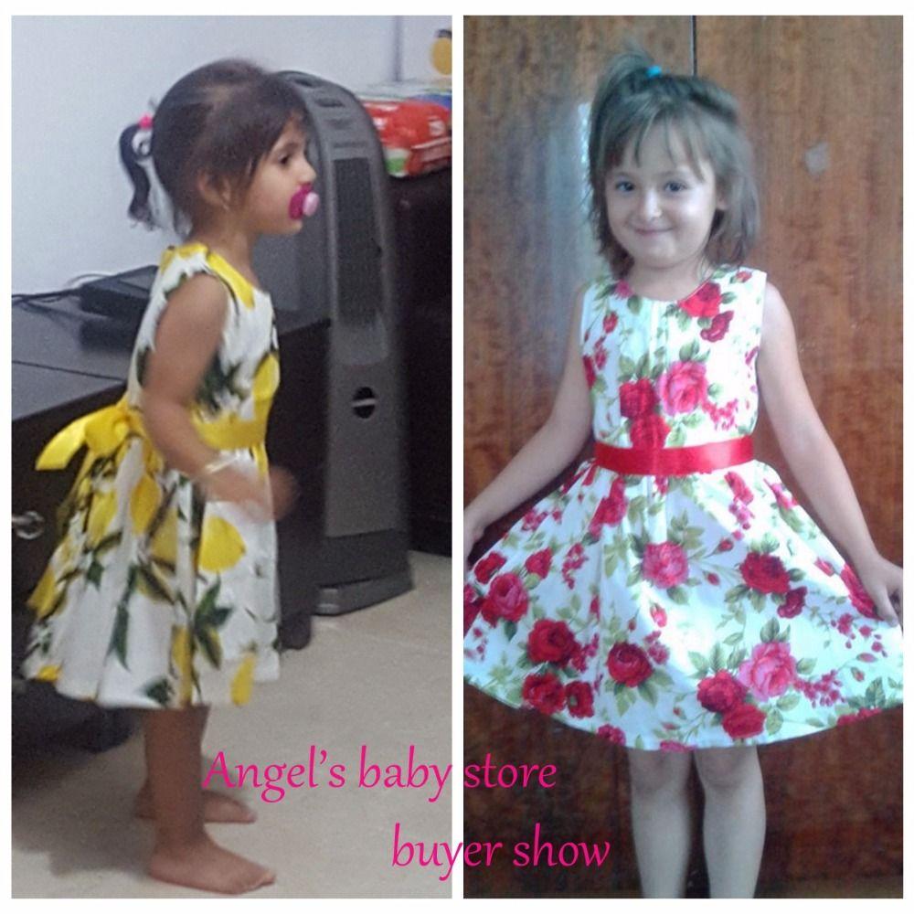 Floral Cotton Children Toddler Girls Dress Beach Summer 2017;Casual Glower Princess Teenage Kids Dress Girl bebe Vestido Party