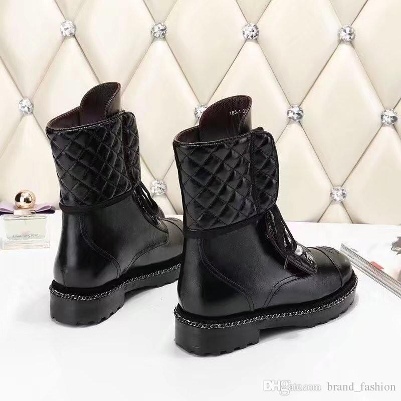 Высокое качество кожаный ботинок для женщин белый черный квартиры середины сапоги зима весна Матин сапоги Женские