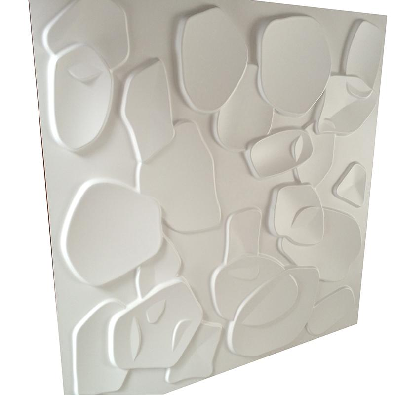 Wholesale Brand New 3D PVC Wall Panel for House Decor 50cm 3D Embossed Waterproof Wall Board DIY European Style Round Brick Wall Stickers