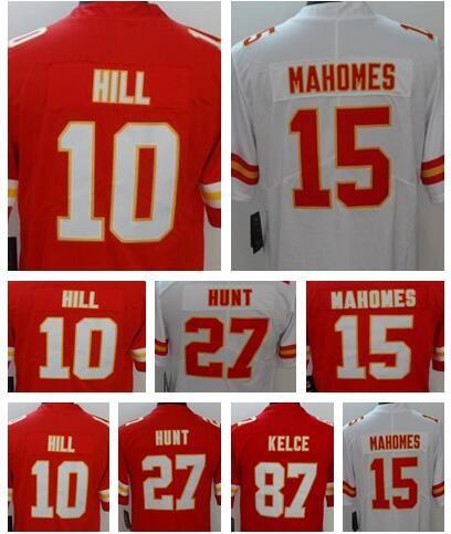 dbc4ab39d 15 Patrick Mahomes II Kansas City Chiefs Jersey 27 Kareem Hunt 87 ...