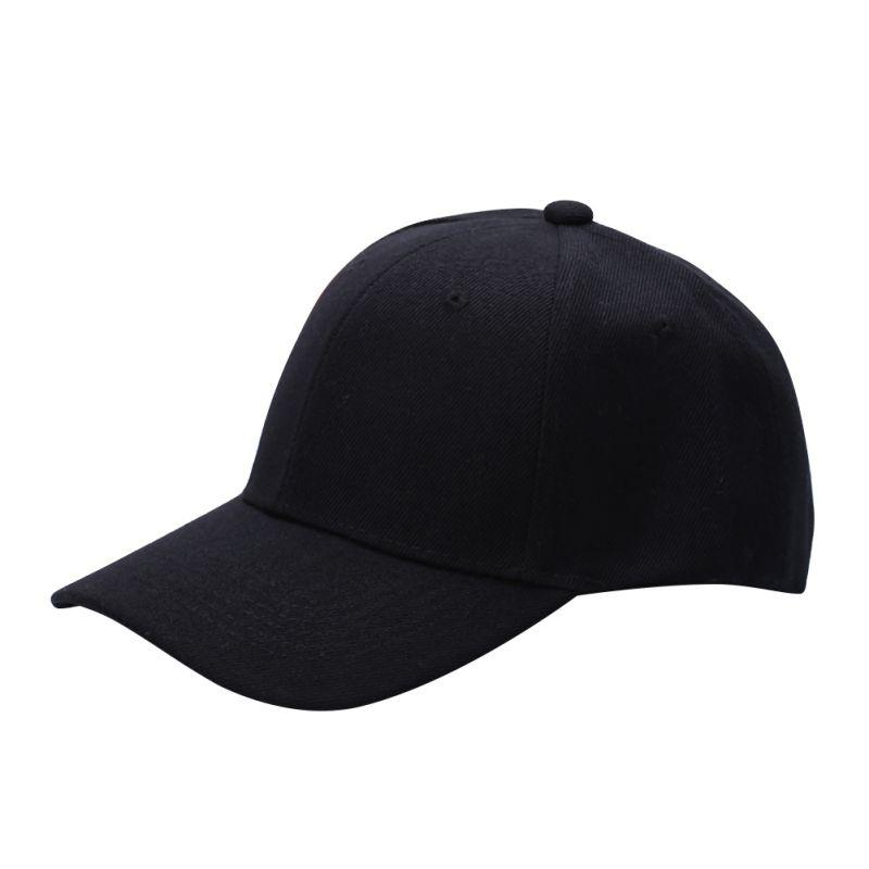 Men Women Plain Baseball Cap Solid Color Unisex Curved Visor Hat Hip-Hop Adjustable Peaked Hat Visor Caps
