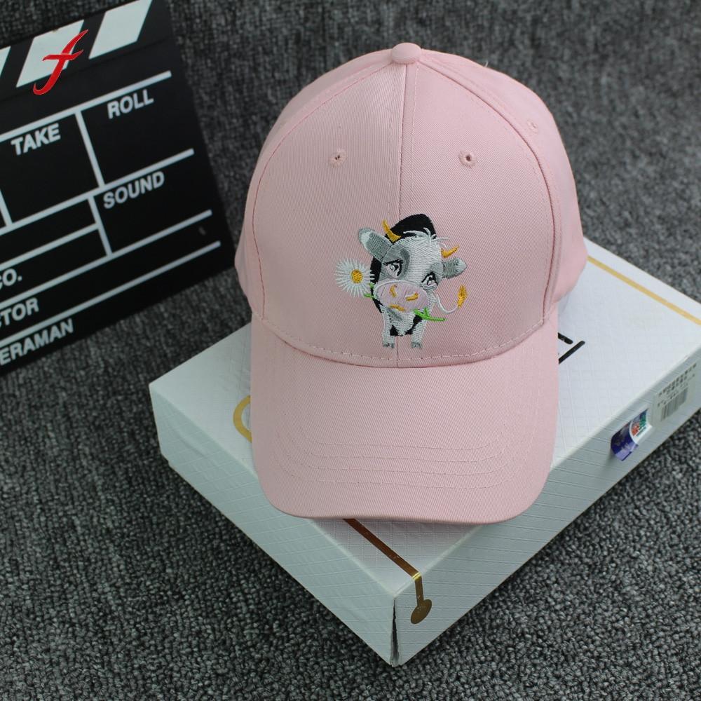 ba87f15e61f 2017 Brand Summer New Style Baseball Cap Women Pink Black Fashion Baseball  Cap Printed Horse Snapback Hip Hop Flat Hat Gorras Compton Cap Baseball  Caps For ...