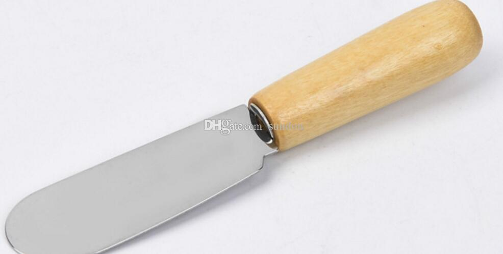 Stainless Steel Cutlery Butter Spatula Wood Butter Knife Cheese Dessert Jam Spreader Breakfast Tool
