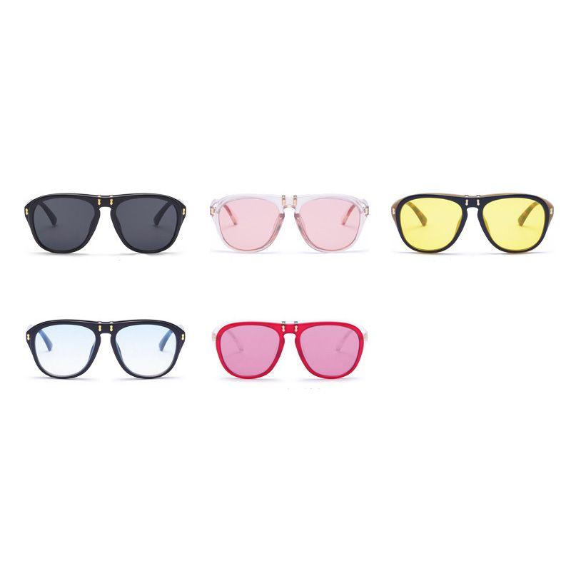 b6da8297ce Compre Color De Caramelo Puede Voltear Gafas De Sol Moda Hombres Y Mujeres  Gafas De Sol De Colores Para La Fotografía Pose Decoración Moderna Gafas  Venta ...