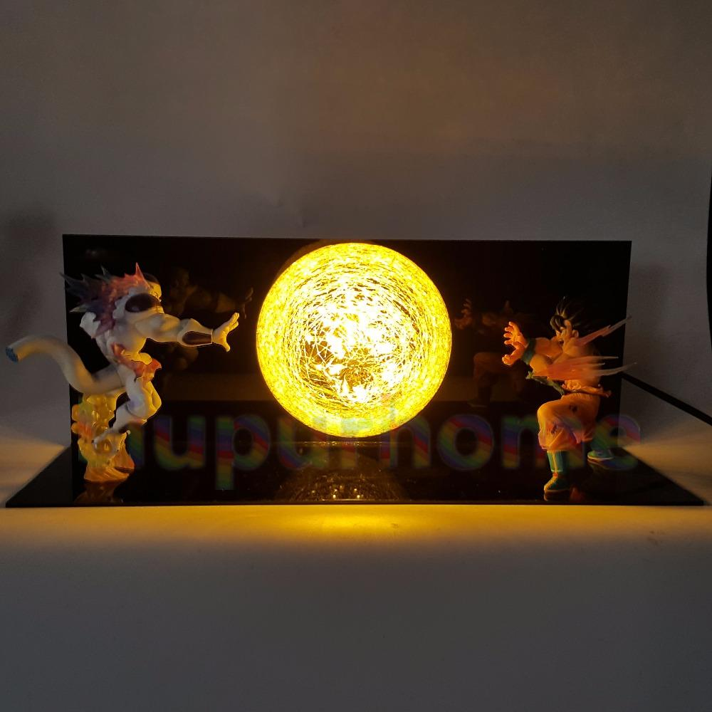 Z Son Goku VS Freeza Led Night Lights Table Lamp Anime Z DBZ Son ...