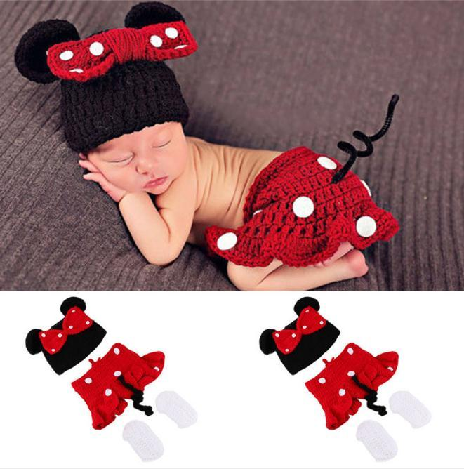 81df3920a4dc9 Newborn Baby Cute Crochet Knit Costume Prop Outfits Photo Photography Baby  Hat Photo Props New born baby girls Cute Outfits