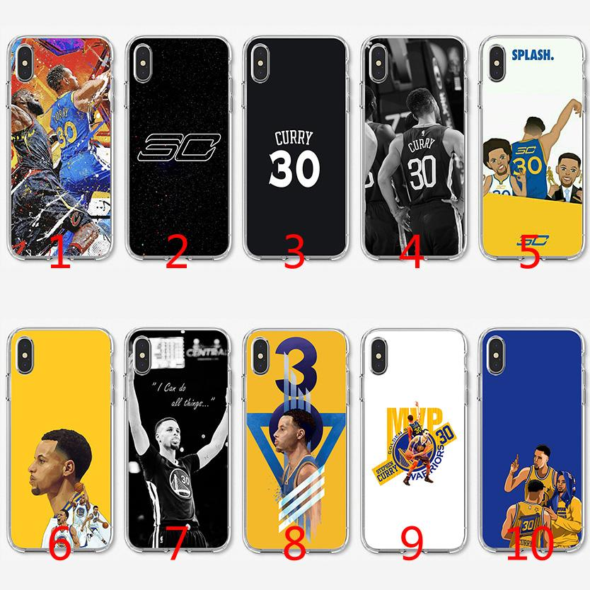 newest 05766 da348 Stephen Curry Soft Silicone TPU Case for iPhone X XS Max XR 8 7 Plus 6 6s  Plus 5 5s SE Cover