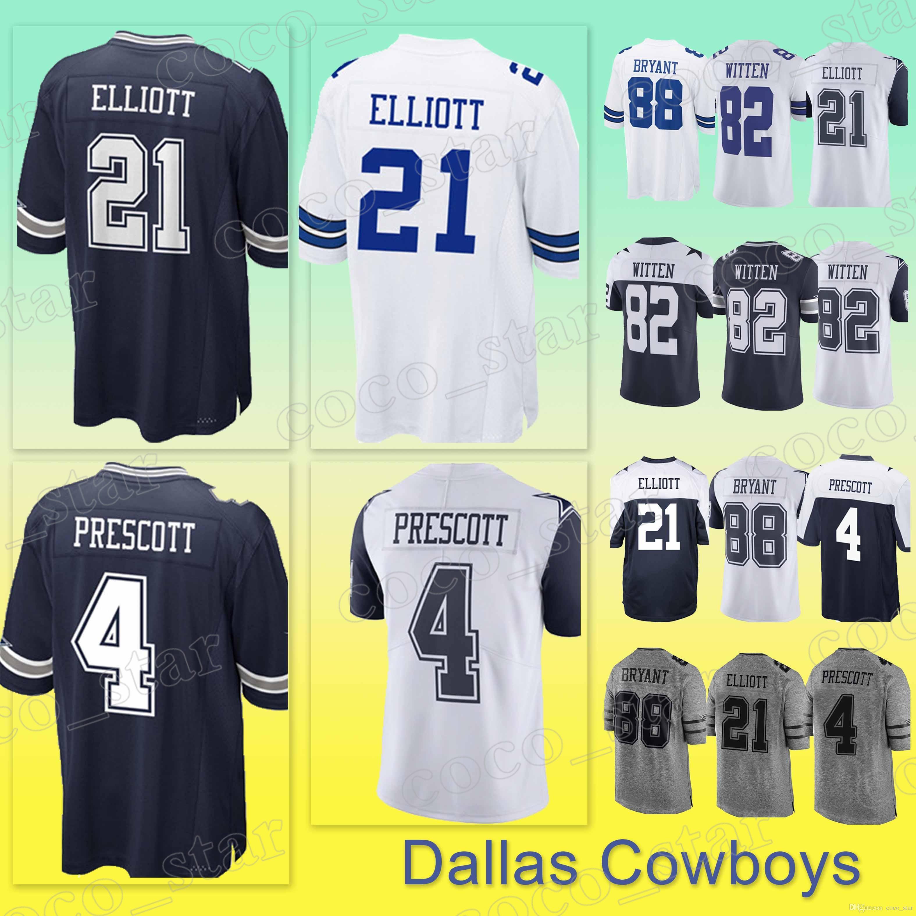 2bf7e82bad5 ... best price dallas cowboys jersey 21 ezekiel elliott 4 dak prescott 55  leighton vander esch 88