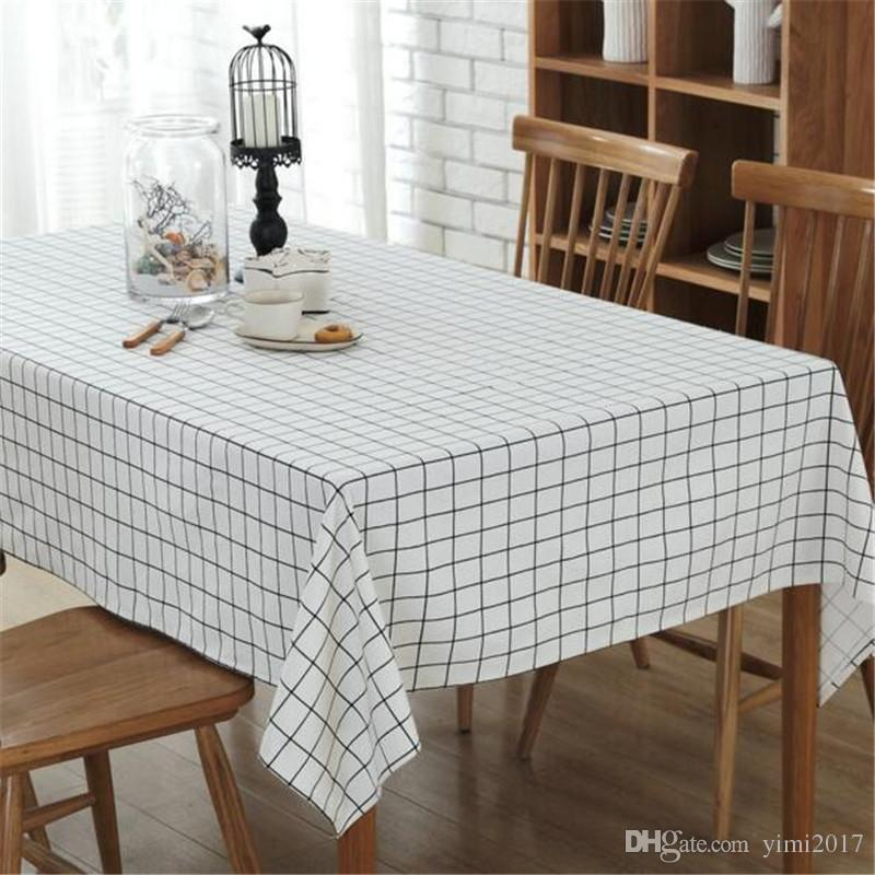 Linen Line Table Cloth Simple Garden Square Geometry Rectangular Tea Table Christmas Restaurant Tablecloth Restaurant Table Linens Card Table Tablecloths ... & Linen Line Table Cloth Simple Garden Square Geometry Rectangular Tea ...