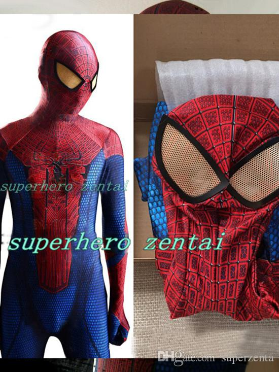 The Amazing Spiderman Costume 3d Original Movie Halloween Spider Man Costume Spiderman Superhero Bodysuit Adult Kids Can Custom Made