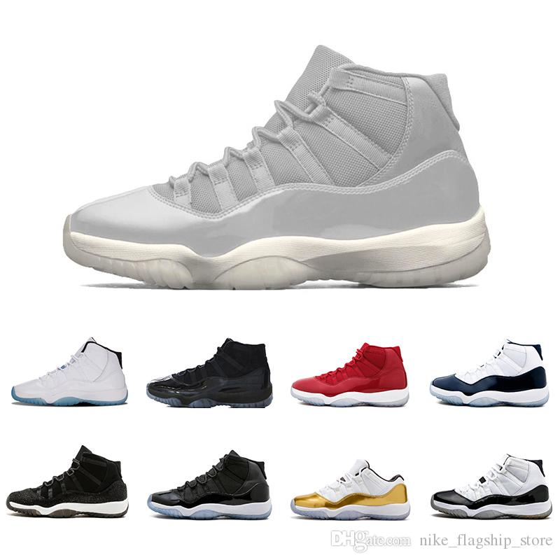 save off abb6c 4e7bd New Platinum Tint 11 11s Mens Basketball Shoes Blackout Cap And Gown Cool  Grey Gym Red Trainers Midnight Navy Bred High Sports Sneakers Basketball  Mens ...