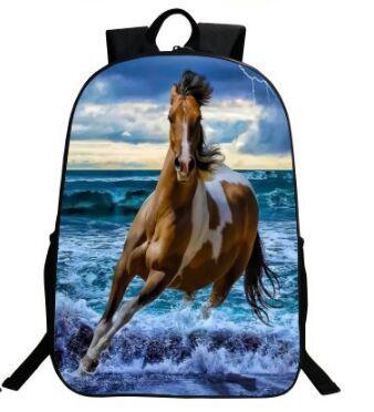 Galloper 3D Crazy Horse Printing Children Schoolbag Kids Boys Bookbags Cool  Animal School Bags For Teenager Mochila Infantil Jansport Toddler Backpack  ... fadd650cccbc5