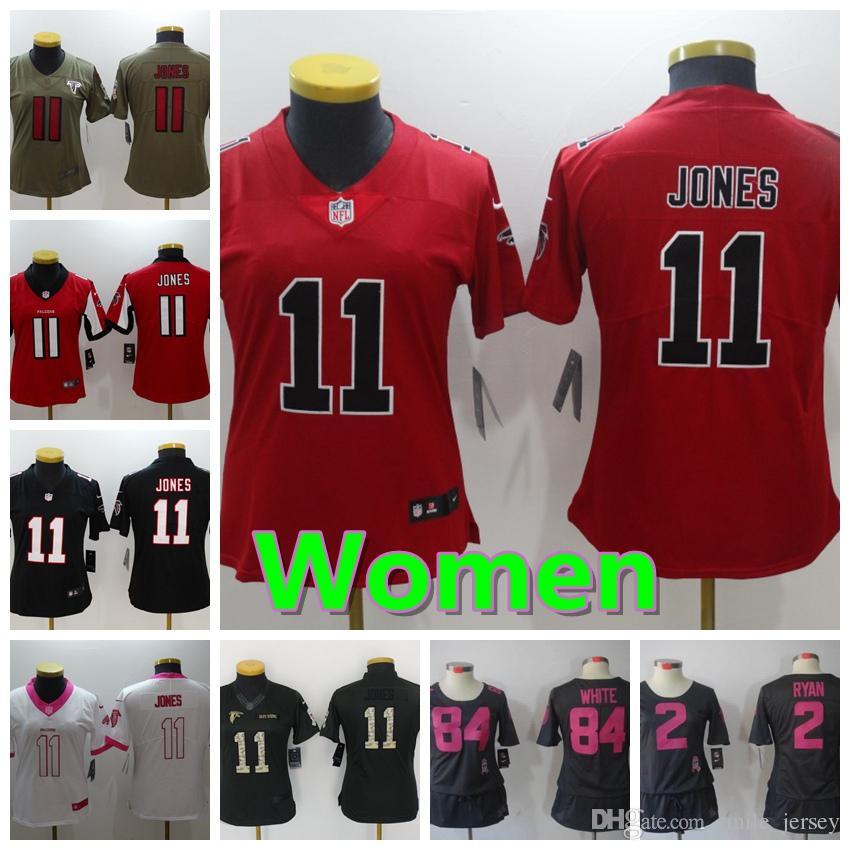 quality design 2c40e 8e33a Women 11 Julio Jones Atlanta Jersey Falcons Football Jersey Stitched  Embroidery 84 Roddy White 2 Matt Ryan Color Rush Football Women Jersey