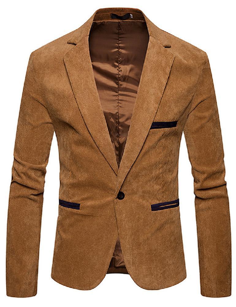 official photos 4b60f 229b8 ZACOO Uomo Elegante giacca di velluto a coste Giacca casual Cappotto  Compleanno di San Valentino Regalo Trasparente di cicogna CCC