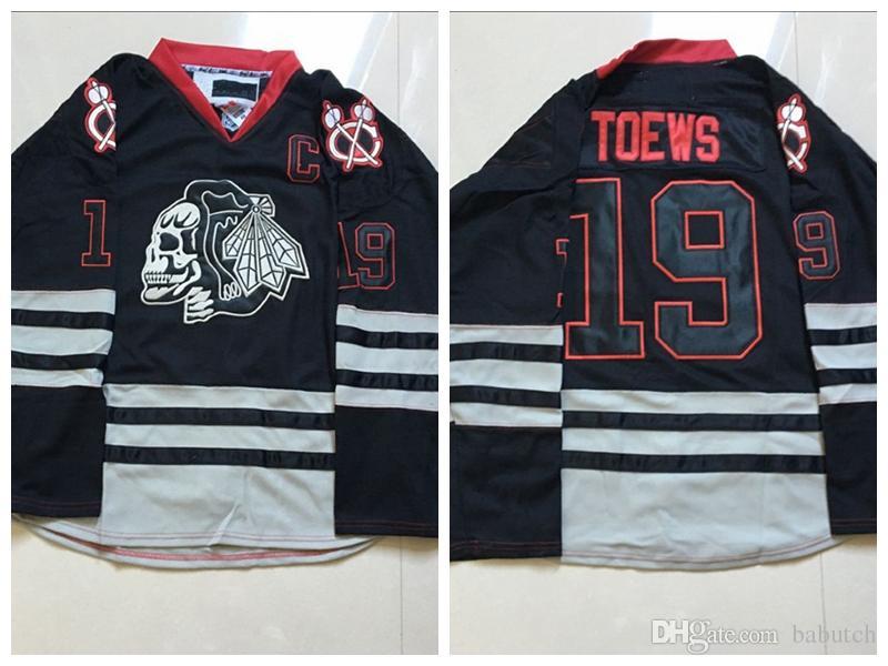 2019 2018 Chicago Blackhawks Jerseys Jonathan Toews Ice Skull Hockey Jerseys  19 Jonathan Toews Jersey Ice Hockey Jerseys Stitched From Babutch 54047b17247