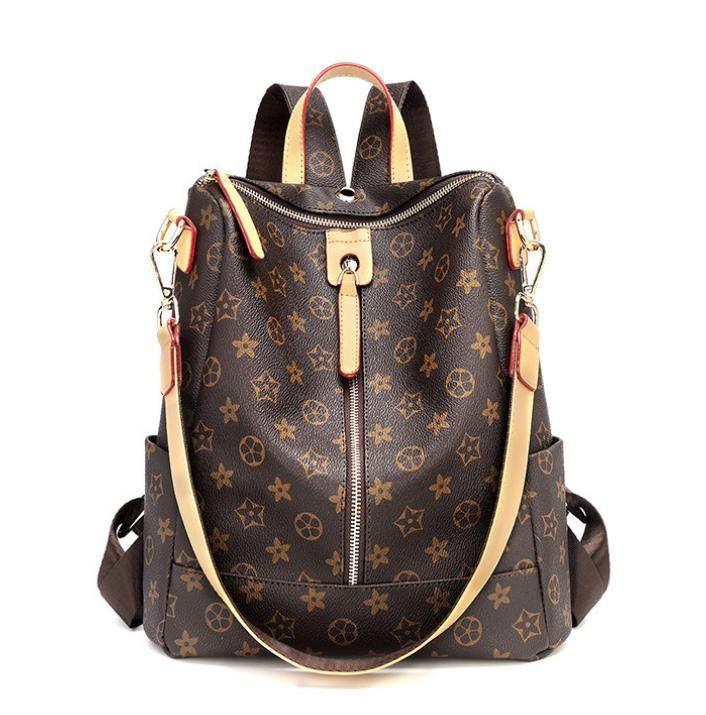 The Hottest Ladies Fashion Backpack Printing Single Pull Backpack Travel  Outdoor Bag Multi-bag Large Capacity Commuter Bag Women s Fashion Backpack  Designer ... e554cd6ea29