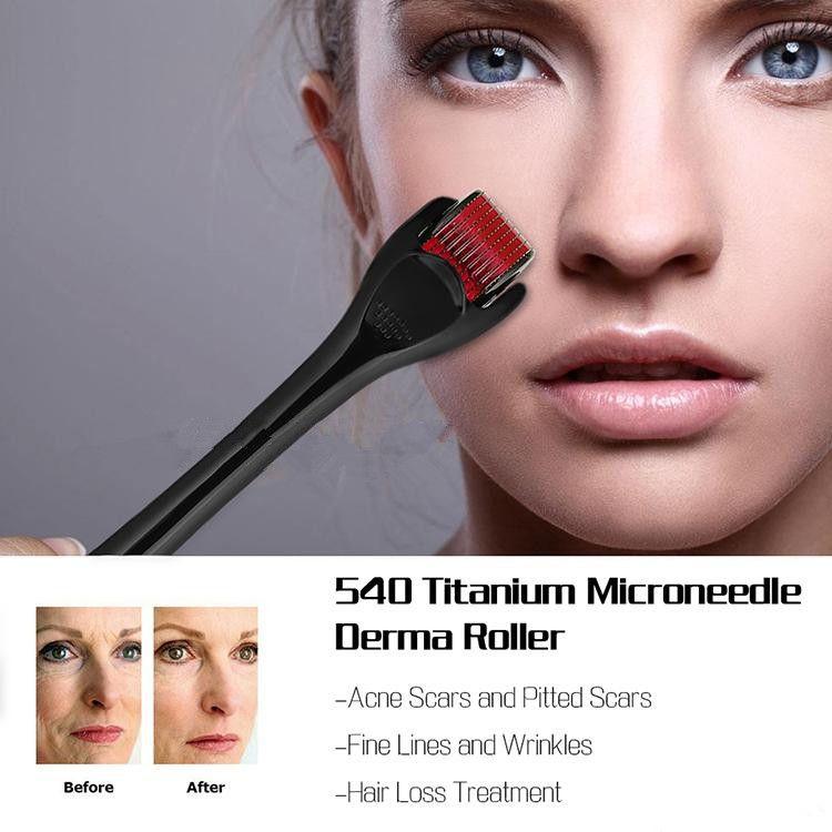 540 Micro Needles Derma Rolling System Micro Needle Skin Roller Dermatología Terapia Sistema Salud Belleza Equipos Envío gratis