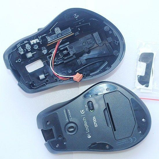 New Mouse Shell / Cover Replacement outer case / outer casing & 1 pc G700S  feet skates for Log G700S mouse