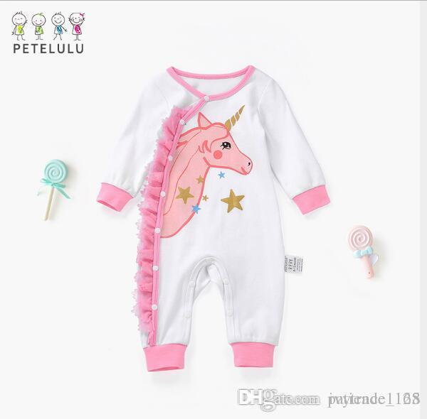 9d8399a8b43 2019 IN Stock INS 2018 New Styles Spring NEW ARRIVAL Kids Cotton Long Sleeve  Cartoon Animal Print Romper 100% Cotton Baby Climb Spring Romper From ...