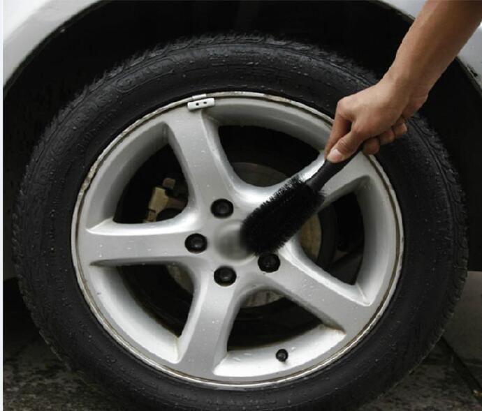 Car Wheel Tire Rim Scrub Brush Washing Cleaner Vehicle Truck Motorcycle Bicycle Washing Cleaning Tool