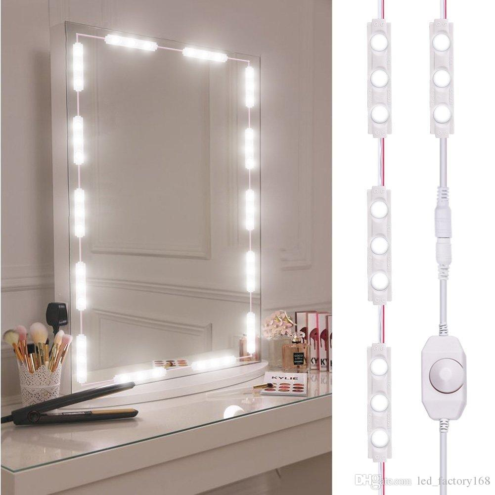 Led Lamps Led Indoor Wall Lamps 2019 Fashion 10 Led Lighted Makeup Mirror Bulbs String Stepless Dimmable Touch Control White Hollywood Lamp For Dressing Waterproof Less Expensive