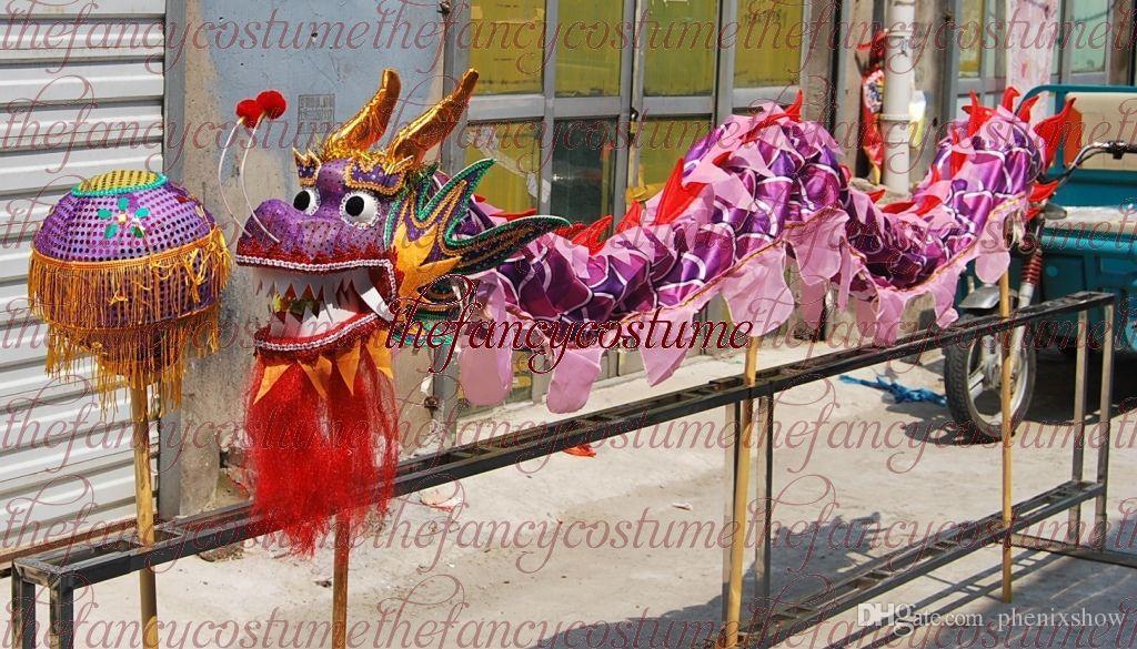8de59728c 2019 New 5.5m Dragon For 6 Children Size Red Silk Print Fabric CHINESE Kid  DRAGON DANCE Folk Festival Celebration Costume Dragon Mascot Costume From  ...