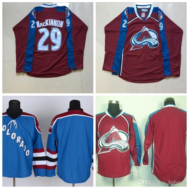 Colorado Avalanche Hockey Jerseys 29 Nathan MacKinnon Blank Version ... 5287fe9cd