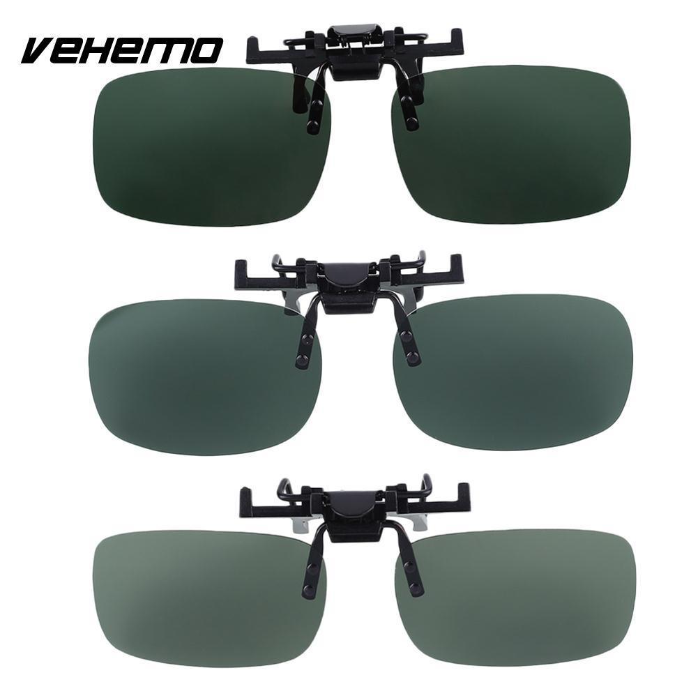 5d2d0e22ae6 VEHEMO Outdoor Dark Green Polarized Lenses Mirror Clip On Sunglasses UV400  Glasses Best Sunglasses For Riding Motorcycle Best Sunglasses For Riding ...