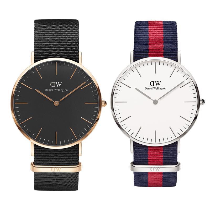 3fe74ece6ed3 Compre Mens Designer Relojes Marca De Lujo AAA Daniel Watch Hombres Mujeres  Moda Reloj De Pulsera De Oro 36 40mm Nylon De Calidad Superior Señoras Reloj  ...