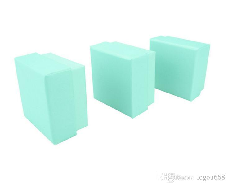 5 * 5 * 3 cm Alta Calidad Jewery Organizador Caja de Anillos Caja de Almacenamiento Pequeña Caja de Regalo Para Los Anillos Pendientes rosa Colores GA65