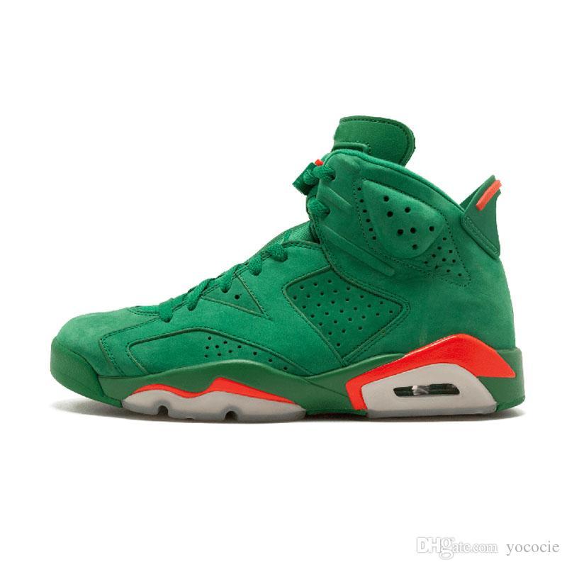 95b3ef34460268 Hot Selling Basketball Shoes 6S Black Cat Alternate Gatorade Green ...