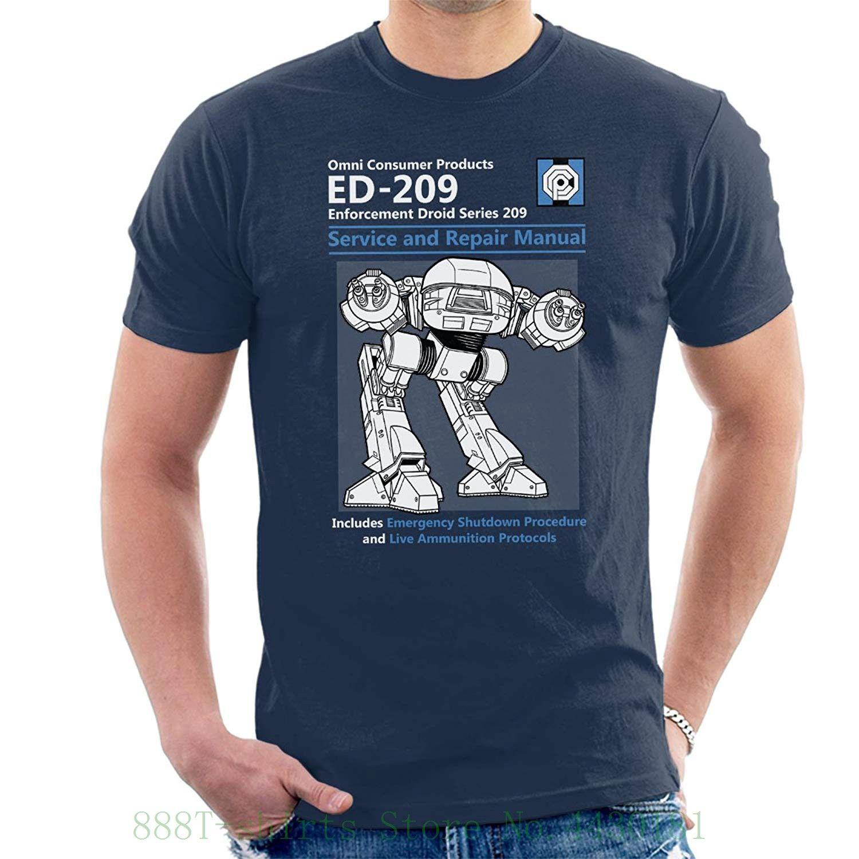 3778d4b8e Robocop Ed209 Service And Repair Manual Men's T Shirt Classic Cotton Men  Round Collar Short Sleeve
