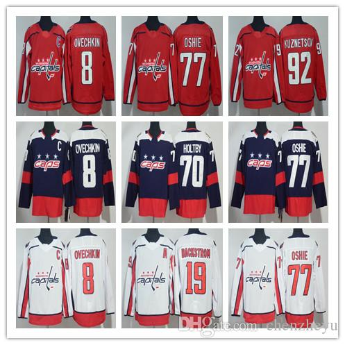 2019 2018 Stadium Series Washington Capitals 8 Alex Ovechkin 77 TJ Oshie  Evgeny Kuznetsov Backstrom Holtby Wilson Winter Classic Hockey Jerseys From  ... 5c0692633