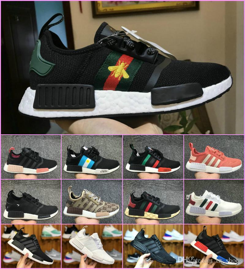 3731436b9 Sales 2018 Original NMD XR1 PK Running Shoes Cheap R1 NMD XR1 Runner Japan Primeknit  OG PK Human Race Black White Men Women Casual Sneakers Loafers For Men ...