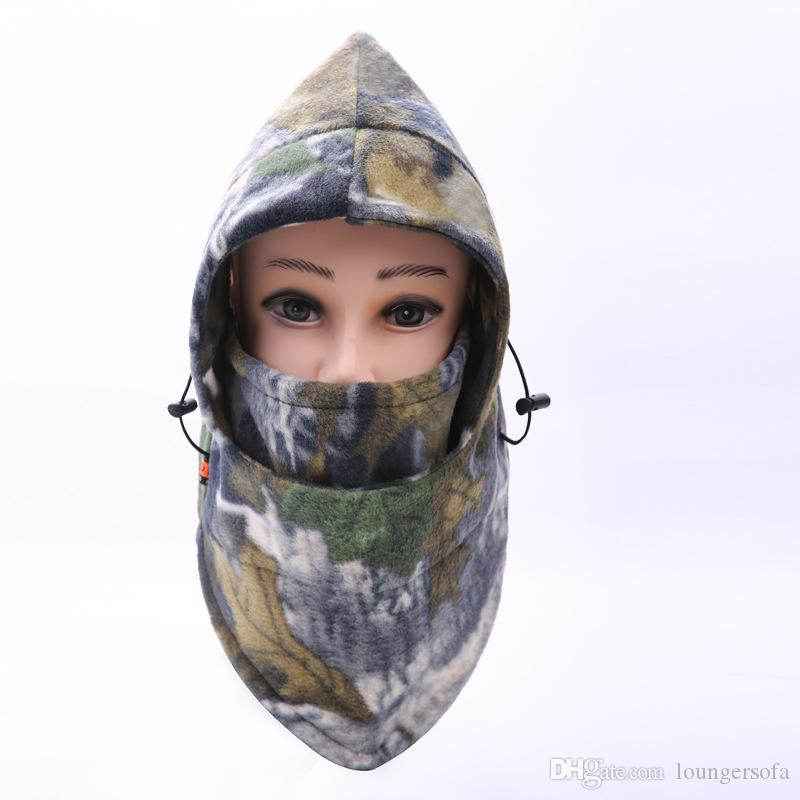 Outdoor Thickening Riding Cap Man Camouflage Windproof Hat Keep Warm Cashmere Full Face Mask Cover High Quality 7dy Ww