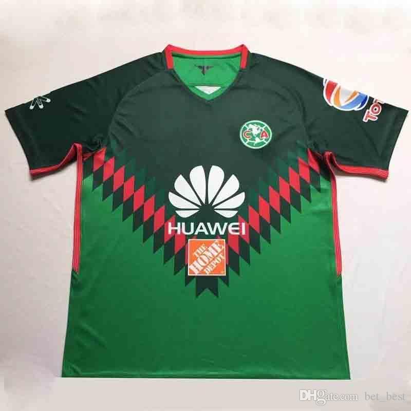 2017 2018 Liga MX Mexico Club Verde America 3ra Camiseta 18 19 Camiseta  Club America Soccer JUEGO DE CAMISETA Futbol Football Quintero DOMINGUEZ  PERALTA Por ... c9ca8fe338ea4