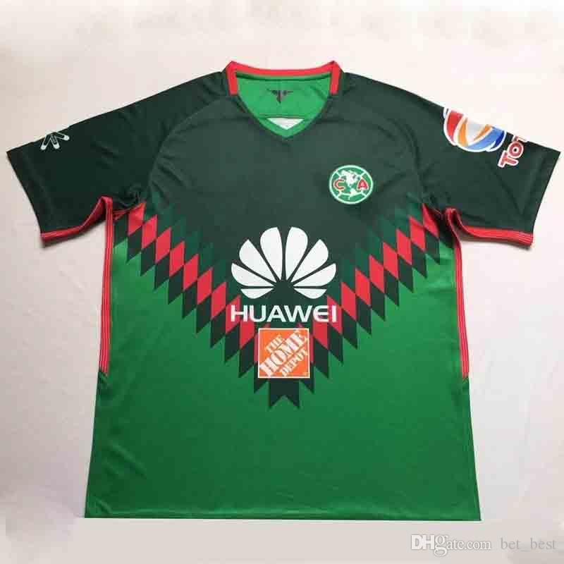 0a5cf2e419b4b 2019 2017 2018 Liga MX Mexico Green Club America 3rd Jersey 18 19 Club  America Soccer Jersey DOMINGUEZ PERALTA Quintero Football Shirt Kit From  Bet best