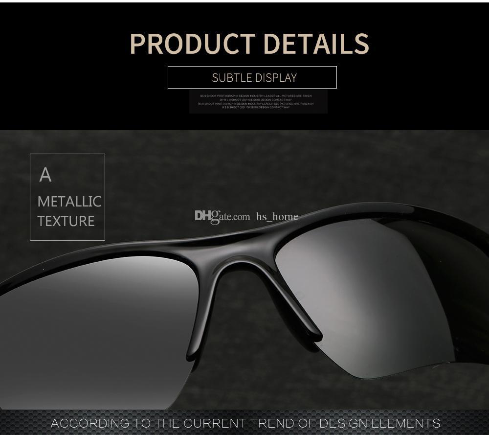 Moda hombres y mujeres gafas de sol polarizadas universales al aire libre gafas de sol UV400 Transmitencia de luz visible 80% 5 tipos de color.