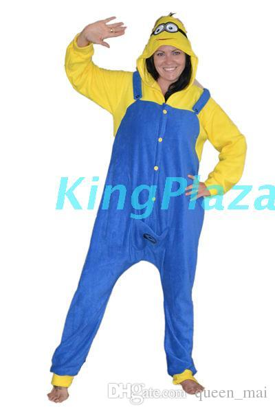 new Winter Sleepwear Hoodie Pyjamas Adult Despicable one eye Onesie Cosplay Costume Cartoon Adult yellow Pajamas jumpsuit
