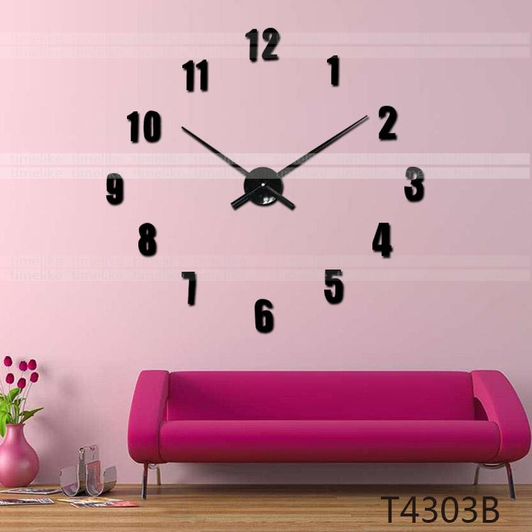 Timelike Diy 3d Wall Sticker Clock Home Decor Large Clock Hands And