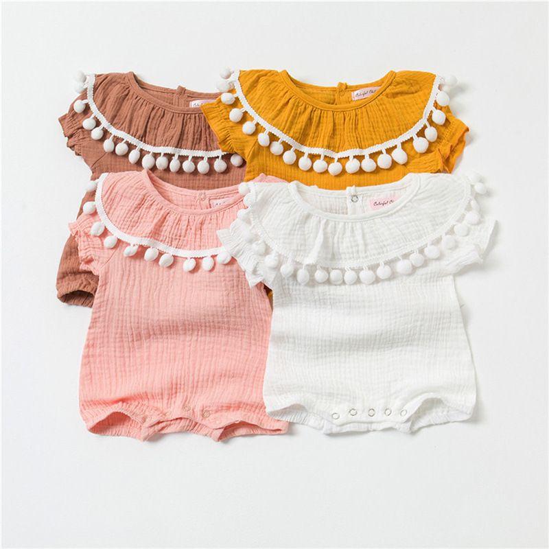 e6a7a12da 2019 Baby Girl Rompers Summer Princess Playsuit Newborn Baby ...