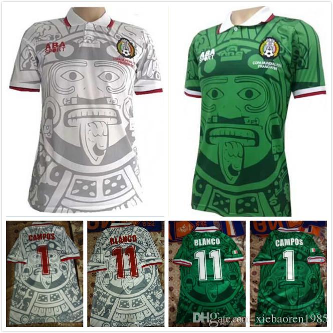 2018 Mexico Retro 1998 Soccer Jersey Vintage Camisetas De Futbol ...