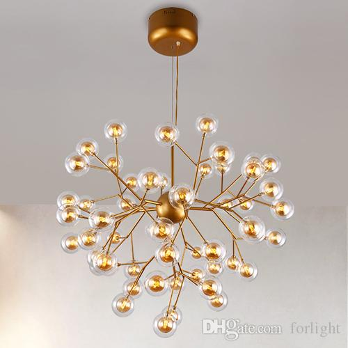 Ceiling Lights & Fans Post-modern Led Novelty Chandelier Nordic Fixtures Glass Ball Illumination Living Room Hanging Lights Restaurant Suspended Lamps High Quality And Inexpensive