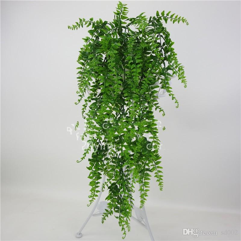 Wedding Decor Plastic Plant Artificial Green Wall Hanging Rattan Creative Home Hotel Favor Simulation Decor Flower Vine Accessorie 7 6yy YY