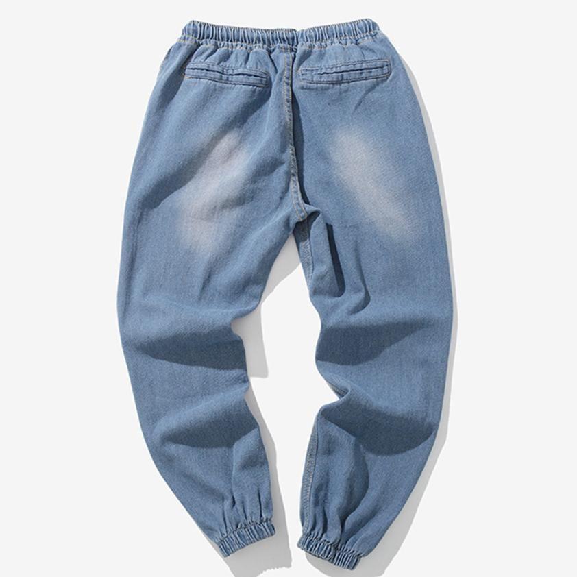 6fea8e7a8c48 Mens Women Fashion Male Pants Stretch Casual Vintage Elastic Wash  Disstressed Denim Slim Trousers Jeans 2018 New Fashion Autumn Jeans Cheap Jeans  Mens Women ...