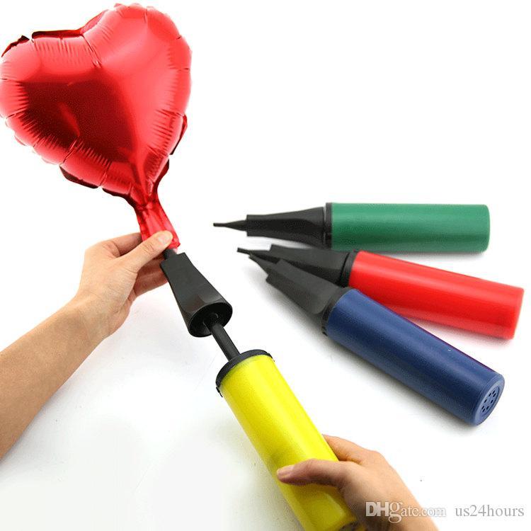 1 Adet Hava Pompası Balon Topu Parti Balon Şişirme Için Balon El Pompası sevgililer Günü Düğün Parti Malzemeleri Dekorasyon