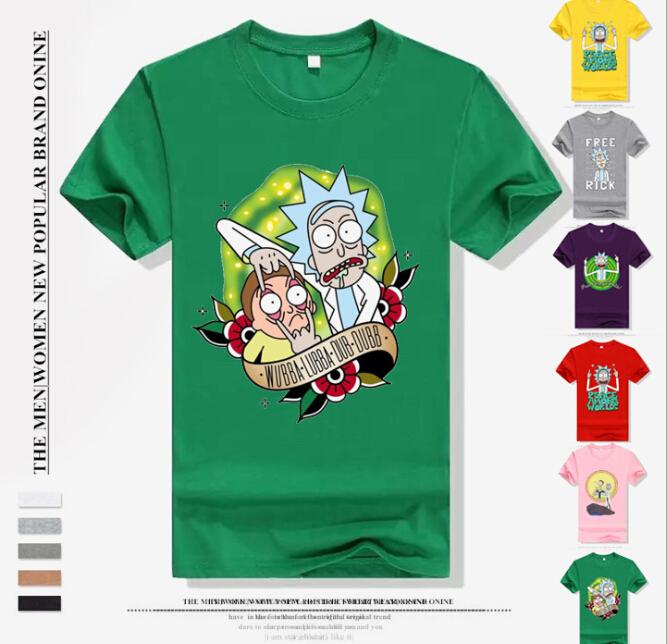 41e05d22d5e Wholesale-24 Types 2018 New Creative Cute Rick And Morty Print T ...
