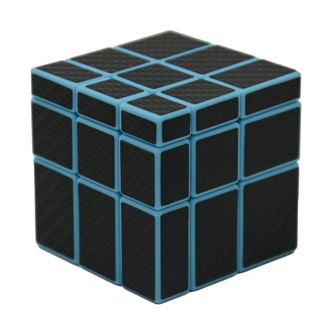 3x3x3 Mirror Blocks Carbon Fiber Sticker Magic Cube Puzzle Speed Cube 57mm