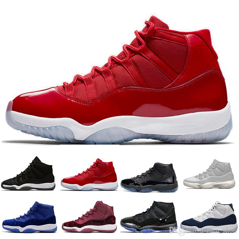 11 11s Cap and Gown Prom Night Basketball Shoes Platinum Tint Gym Red Bred PRM Heiress Barons Concord 45 Platinum Tint mens sports sneakers