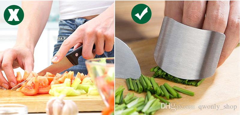 Finger Guard Protect Finger Hand Not To Hurt Cut Stainless Steel Hand Protector Knife Cutting Finger Protection Tools